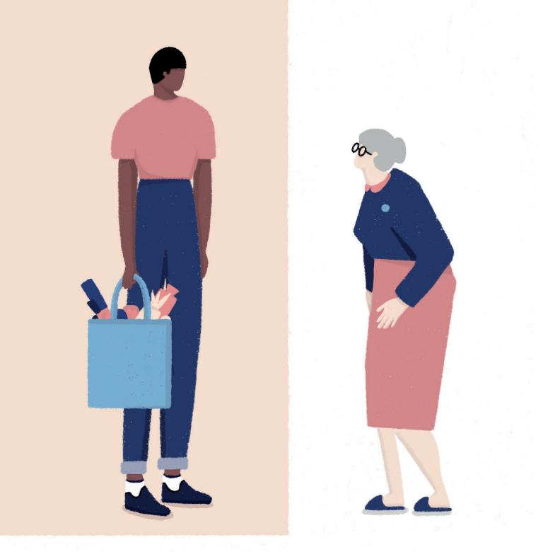 Infographic over kwetsbare ouderen & mantelzorgers